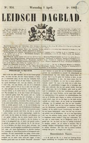 Leidsch Dagblad 1863-04-01