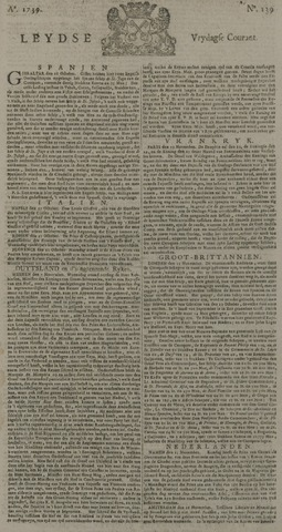 Leydse Courant 1739-11-20