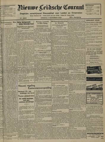 Nieuwe Leidsche Courant 1939-11-07