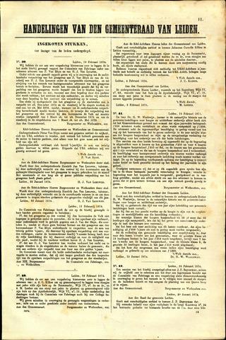 Handelingen van de Raad 1874-02-12