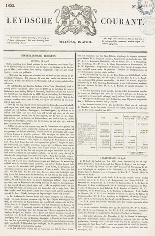Leydse Courant 1853-04-18