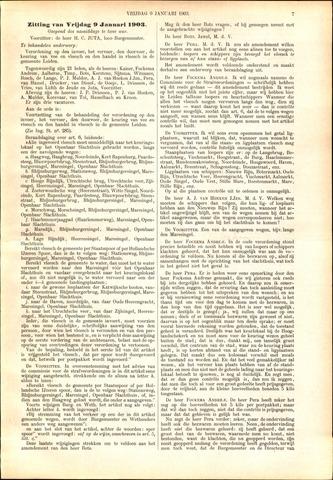 Handelingen van de Raad 1903-01-09