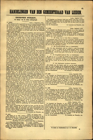 Handelingen van de Raad 1872-09-09