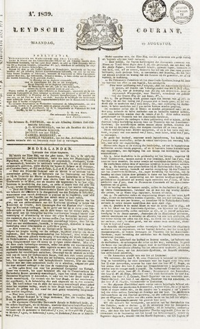 Leydse Courant 1839-08-19