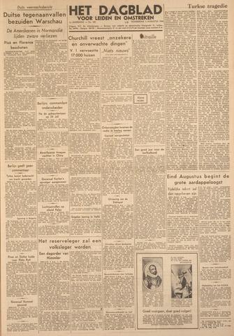 Dagblad voor Leiden en Omstreken 1944-08-03