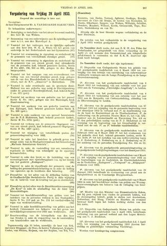 Handelingen van de Raad 1933-04-28