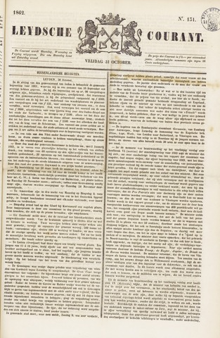 Leydse Courant 1862-10-31