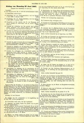 Handelingen van de Raad 1927-06-27
