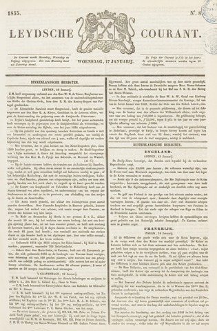 Leydse Courant 1855-01-17