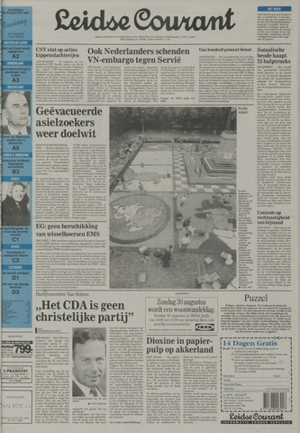 Leidse Courant 1992-08-29