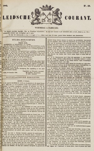 Leydse Courant 1885-02-04