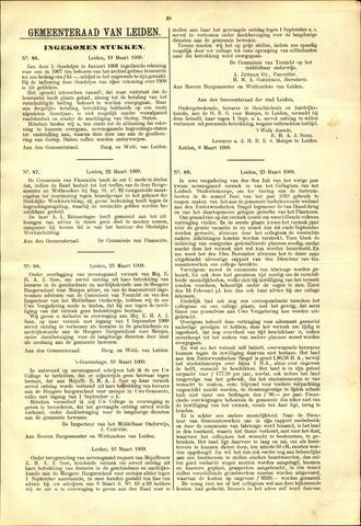Handelingen van de Raad 1909-03-19