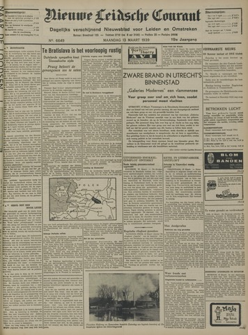 Nieuwe Leidsche Courant 1939-03-13