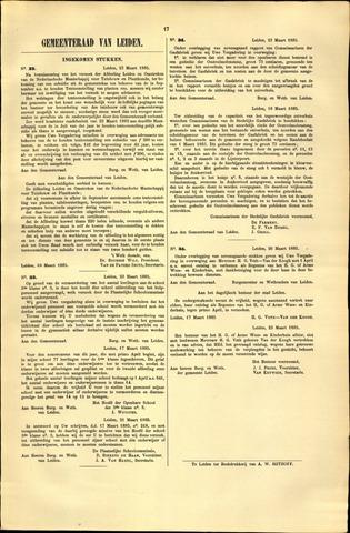 Handelingen van de Raad 1885-03-23