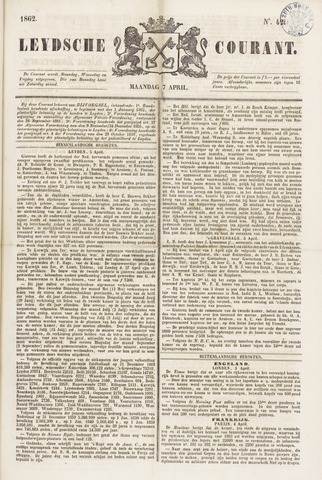 Leydse Courant 1862-04-07