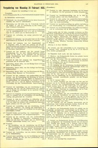 Handelingen van de Raad 1935-02-25
