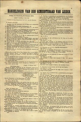 Handelingen van de Raad 1875-02-25