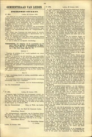 Handelingen van de Raad 1918-10-22