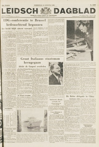 Leidsch Dagblad 1954-08-19