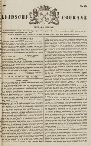 Leydse Courant 1885-02-03