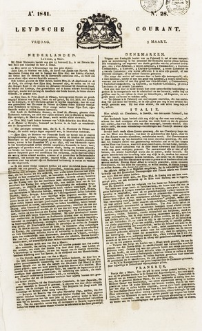 Leydse Courant 1841-03-05