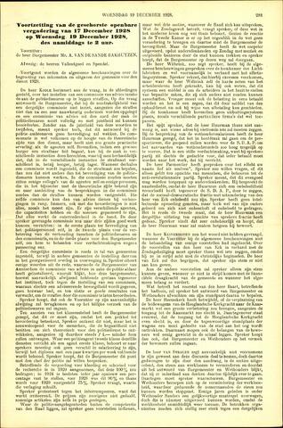 Handelingen van de Raad 1928-12-19
