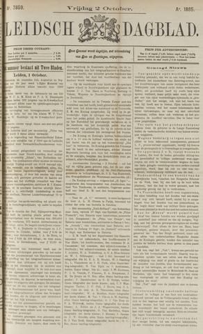 Leidsch Dagblad 1885-10-02
