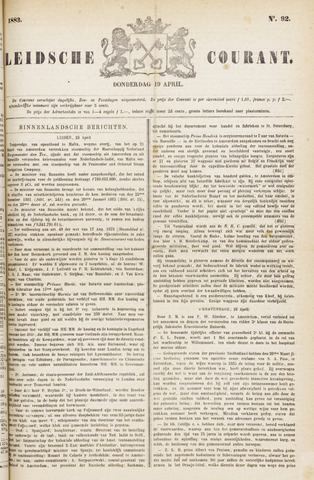 Leydse Courant 1883-04-19