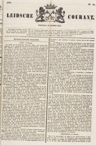 Leydse Courant 1875-02-19
