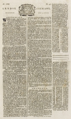 Leydse Courant 1820-04-19