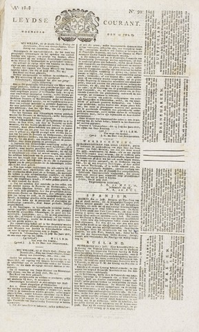 Leydse Courant 1818-07-29
