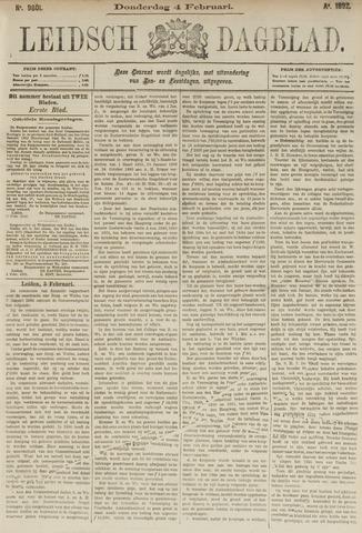 Leidsch Dagblad 1892-02-04