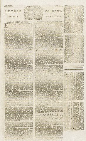 Leydse Courant 1822-11-25