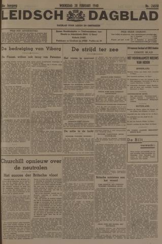 Leidsch Dagblad 1940-02-28