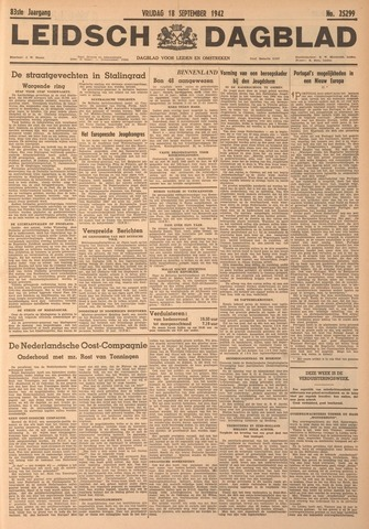 Leidsch Dagblad 1942-09-18