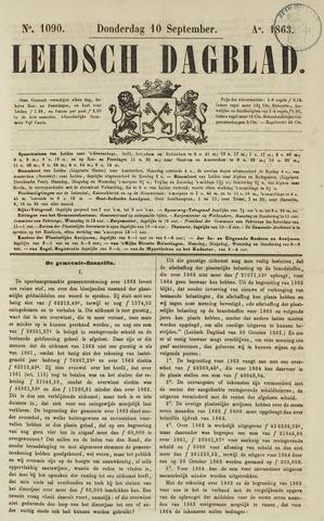 Leidsch Dagblad 1863-09-10
