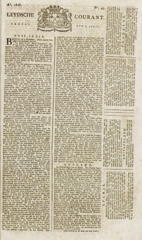Leydse Courant 1826-04-14