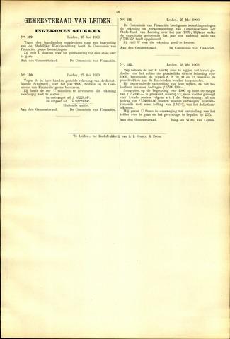 Handelingen van de Raad 1900-05-25