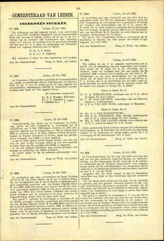 Handelingen van de Raad 1920-07-12
