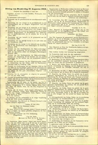 Handelingen van de Raad 1913-08-21