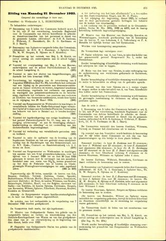 Handelingen van de Raad 1925-12-21