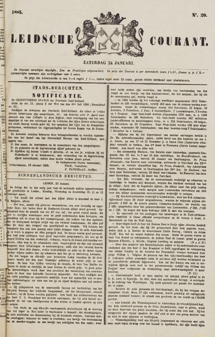 Leydse Courant 1885-01-24
