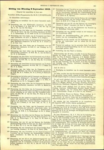 Handelingen van de Raad 1919-09-02