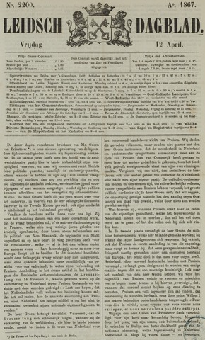 Leidsch Dagblad 1867-04-12