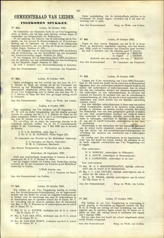 Handelingen van de Raad 1905-10-10
