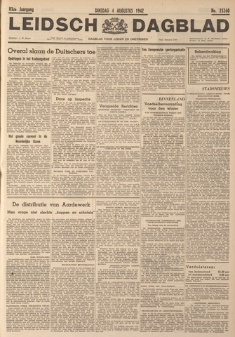 Leidsch Dagblad 1942-08-04