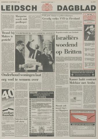 Leidsch Dagblad 1985-09-19