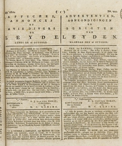 Leydse Courant 1812-10-26