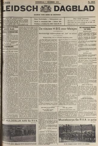 Leidsch Dagblad 1933-12-07