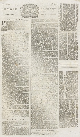 Leydse Courant 1820-09-25